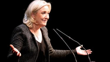 Marine Le Pen, lors d'un meeting à Reims, le 17 février dernier.