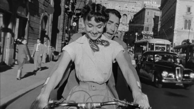 "Audrey Hepburn dans ""Vacances Romaines"""