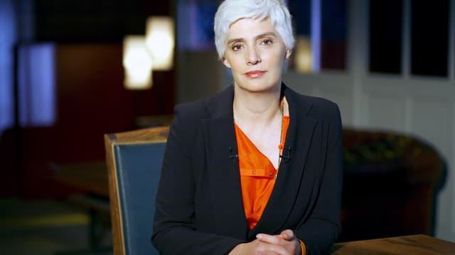 """Frédérique Lantieri, animatrice de """"Faites entrer l'accusé"""", sur France 2."""