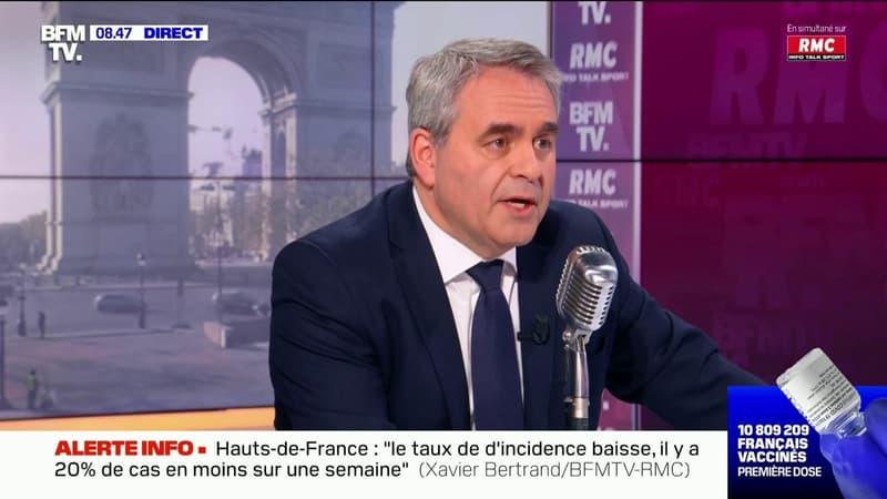 """Présidentielle 2022: pour Xavier Bertrand, """"le duel Macron-Le Pen au deuxième tour n'aura pas lieu""""tour"""