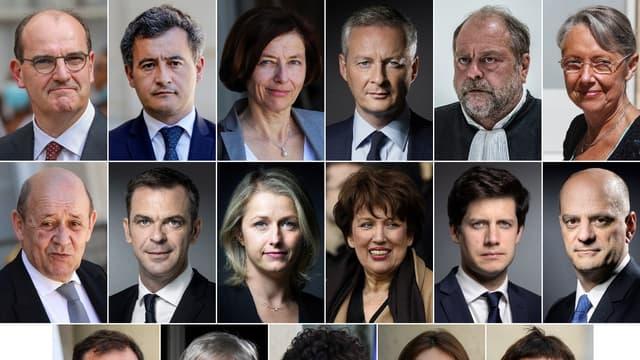 Plusieurs ministres membres du gouvernement Castex.