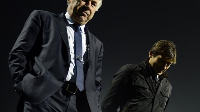 Carlo Ancelotti et Leonardo