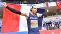 Pascal Martinot-Lagarde, après sa médaille d'argent à Belgrade sur le 60m haies des Championnats d'Europe en salle.