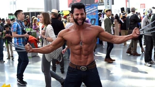 Un fan de Wolverine au Comic Con de New York