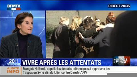 """Hommage national aux Invalides: """"Le Président a eu des mots très dignes"""", Michèle de Kerchove"""