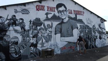 La fresque murale en hommage à Steve, à Nantes, photographiée en août 2019. (photo d'illustration)