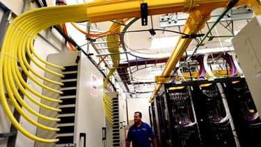 A l'intérieur d'un centre de distribution de l'opérateur Comcast.