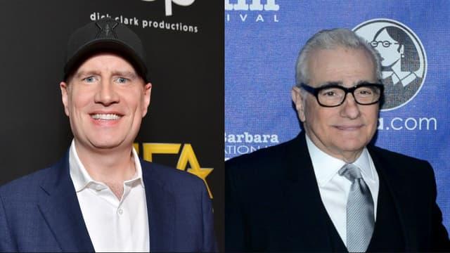 Kevin Feige, pdg de Marvel, et le réalisateur Martin Scorsese.
