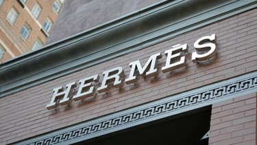 La devanture d'une boutique Hermès à New York.