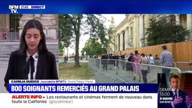Covid-19: 800 soignants sont reçus ce lundi soir au Grand Palais pour être remerciés