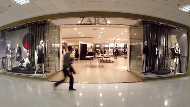 Une boutique Zara (image d'illustration)