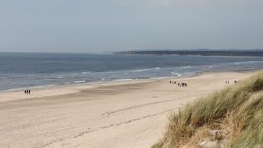 Une plage du nord de la France.