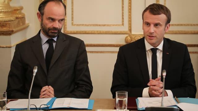 Edouard Philippe et Emmanuel Macron, le 30 octobre 2017.