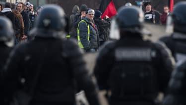Forces de l'ordre à Nantes le 11 janvier 2020 lors d'une manifestation contre la réforme des retraites