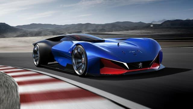 Peugeot arrive avec les images d'un concept hybride absolument dingue, à ras du sol et développant plus de 500 chevaux pour un poids plume.