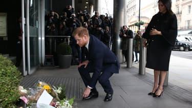 Le prince Harry et Meghan Markle à Londres le 19 mars 2019 au Haut-commissariat de la Nouvelle-Zélande