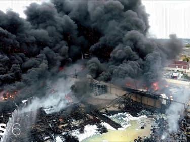 L'incendie de l'usine Lubrizol de Rouen.