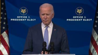 Joe Biden lors d'un discours ce mercredi soir.