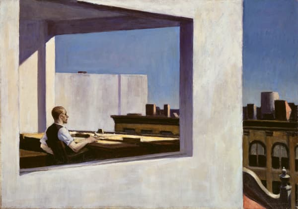 Office in the Small City d'Edward Hopper
