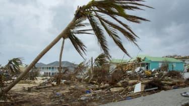 Les dégâts provoqués par le passage des ouragans Irma et Maria, le 20 septembre 2017 sur l'île de Saint-Martin