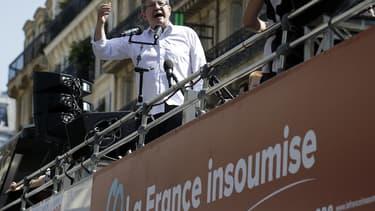 """Jean-Luc Mélenchon a pris deux fois la parole lors de """"la fête à Macron""""."""