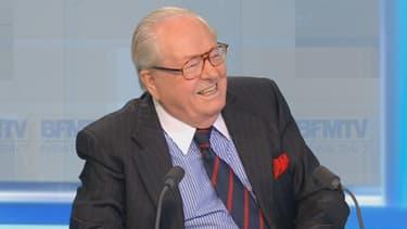 Jean-Marie Le Pen, président d'honneur du FN, a défendu Dieudonné sur BFMTV.