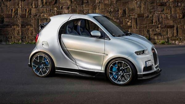 Le mix osé entre Smart Fortwo et Bugatti Chiron