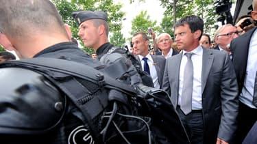 Manuel Valls, ministre de l'Intérieur, lors d'un déplacement à Amiens.