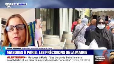 """Masques à Paris: pour l'adjointe à la Santé de la ville, """"si on ne se masque pas, à un moment, on se retrouvera confinés"""""""