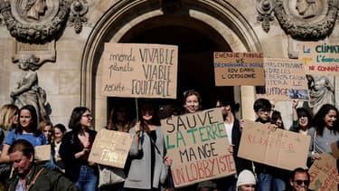Manifestation des étudiants pour l'environnement et le climat le 22 février 2019, à Paris. - Lionel Bonaventure - AFP