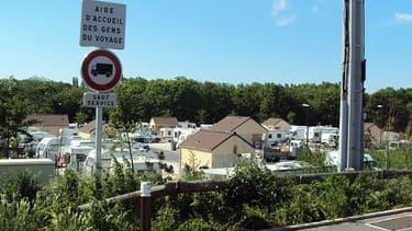 Une aire d'accueil des gens du voyage à Saint-Ouen-l'Aumône.