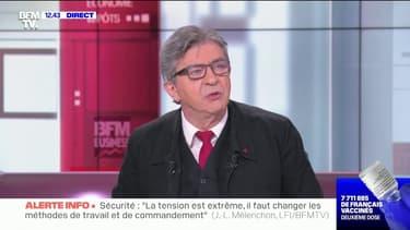 """Jean-Luc Mélenchon à propos des étudiants en BTS: """"Il faut leur donner le contrôle continu"""""""