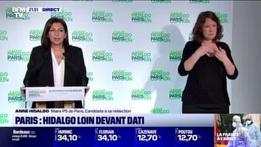 """Municipales à Paris: en tête au premier tour, Anne Hidalgo appelle désormais """"à l'unité"""" et """"au rassemblement"""""""