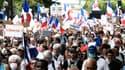 Des manifestants contre le pass sanitaire à Paris, le 21 août 2021.
