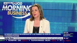 """Sophie Bellon (Présidente du Conseil d'Administration de Sodexo): """"Forcer les choses, ce n'est pas la meilleure solution"""", sur la parité hommes/femmes dans les entreprises"""