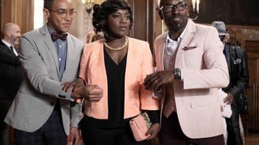Benjamin Douba Paris, Claudia Tagbo et Lucien Jean-Baptiste dans C'est quoi cette famille?!