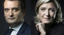 Florian Philippot et Marine Le Pen s'affrontent par médias interposés.