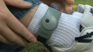 Image d'illustration d'un type de bracelet électronique utilisé actuellement en France.