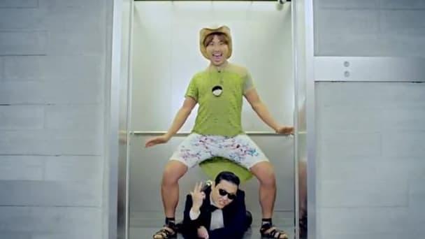 capture d'écran du clip Gangnam Style, de Psy