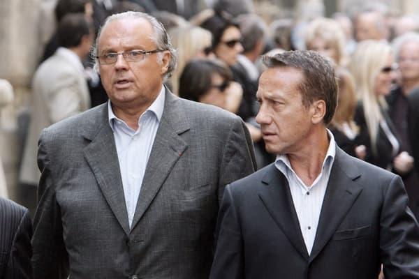 Gérard Louvin et son époux, Daniel Moyne, en 2007.