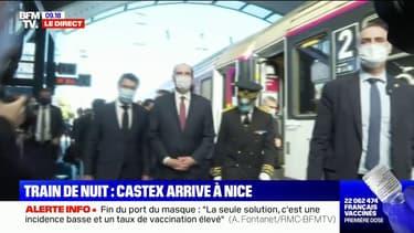 Le train de nuit Paris-Nice arrive à destination avec le Premier ministre Jean Castex à son bord