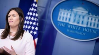 La porte-parole de l'exécutif américain Sarah Sanders à la Maison Blanche à Washington, le 2 juillet 2018