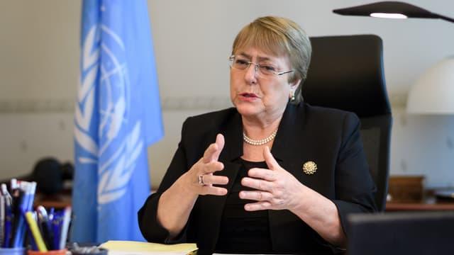La Haut-Commissaire de l'ONU aux droits de l'Homme, Michelle Bachelet.