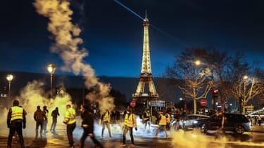 La mobilisation des gilets jaunes samedi 22 décembre, à Paris.