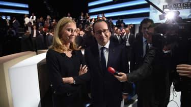 Karine Charbonnier, le 6 novembre dernier, à côté de François Hollande