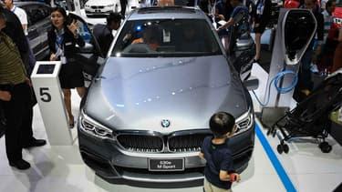 Une BMW Série 5 au dernier salon automobile de Bangkok (Thaïlande), en avril.