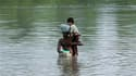 Dans la province pakistanaise du Sindh. Un mois après les pluies torrentielles qui ont ravagé le pays, le niveau des eaux commence à baisser lentement à travers le pays, même si les sinistrés sont toujours vulnérables face aux maladies et à la malnutritio