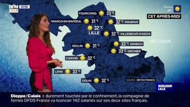 Météo: du soleil et des températures qui poursuivent leur hausse avec 32°C cet après-midi à Lille