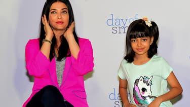 L'actrice Aishwarya Rai et sa fille