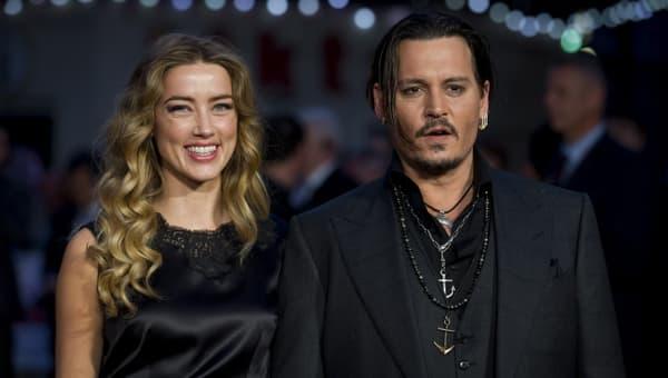 Amber Heard et Johnny Depp en 2014 à Hollywood.
